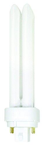 Luxrite LR20355 (4-Pack) CF18DD/E/827 18-Watt Double Tube Compact Fluorescent Light Bulb, Warm White, 2700K, 1200 Lumens, 4-Pin G24Q-2 Base (Par38 Compact Fluorescent Bulb)