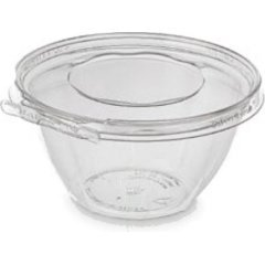 Inline Plastics Safe-T-Fresh Polyethylene Tamper Resistant Round Food Container Clear, 32 oz. | 150/Case