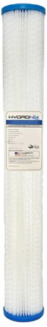 Hydronix SPC-25-2050 Polyester Pleated Filter 2.5'' OD X 20'' Length, 50 Micron by Hydronix