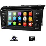 DVD GPS Navigation for Mazda 3 2004-2009 Radio Stereo with Navigation SD Card + Backup Camera AM FM Bluetooth 3G 1080p Canbus 7