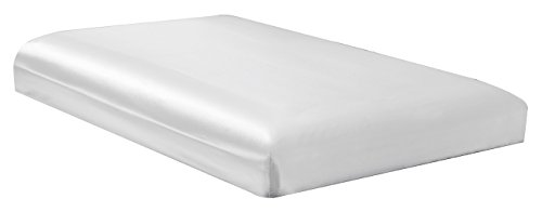 white satin bed sheets - 3