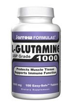 Jarrow Formulas - L-Glutamine 1000 mg. - 100 Tablets ( Multi-Pack)