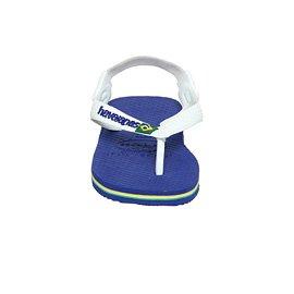 Havaianas Brasil diseño de bebé azul - Marine Blue White