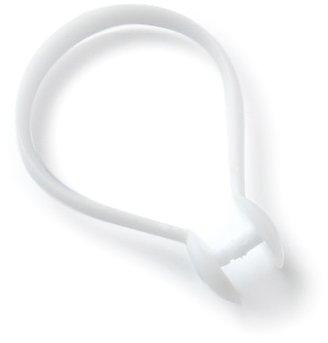 Bulk Hardware BH00874 Snap Fit Plastic Shower Curtain Rings, 40 mm (1.1/2 inch) - White, Pack of 25 Bulk Hardware Ltd