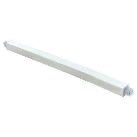 (Ez-Flo 15198 Adjustable Plastic 24-Inchs Towel Bar White Plastic)