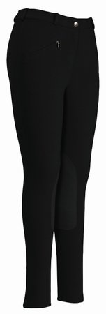 Ladies Cotton Knee Patch Breeches - 3