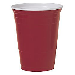 Solo Cup Company P16RLRPK Solo P16rlrpk Plastic Party Cup - 16oz - 50 / Pack - Polystyrene - Red