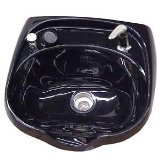 Jeffco 8900-570 (Black) Oval Shampoo Bowl / Sink with 570 Fixture