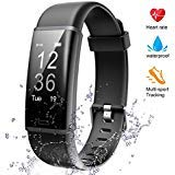 Lintelek Fitness Tracker Heart Rate Monitor, Activity Tracker, Pedometer Watch with Connected GPS, Waterproof Calorie Counter, 14 Sports Modes Step Tracker for Women, Men, Kids and Gift from Lintelek