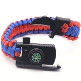 Survival The Fittest Watch Bracelet Camping & Hiking Tool - 4 1 Bracelet Outdoor Emergency 7 Core Paracord Whistle Compass Kit - Selection Bangle Natural Watchband Endurance Wristband - (Peak Compass Watch)