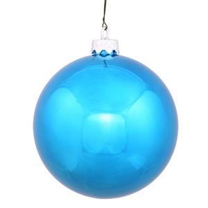 Vickerman 34790 - 2.75 Turquoise Shiny Ball Christmas Tree Ornament (12 pack) (N590712DSV)