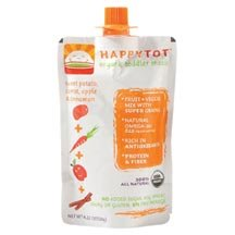 HAPPYBABY Happy Tot – Stage 4: Sweet Potato, Apple, Carrots and Cinnamon, 4.22 Ounce Pouch (Pack of 16) ( Value Bulk Multi-pack), Baby & Kids Zone