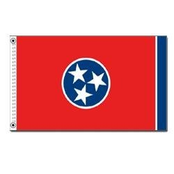Valley Forge Tennessee 3ft x 5ft Spun Heavy Duty Polyester Flag