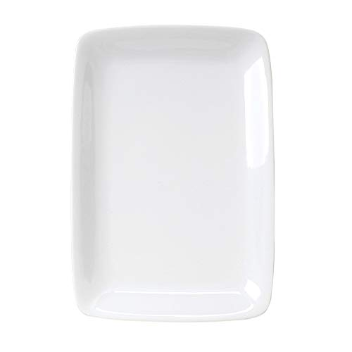 HIC Harold Import Co. 401914 HIC White Porcelain Rectangular Platter, -