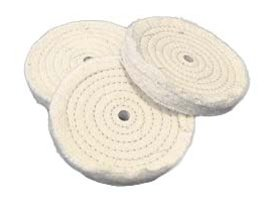 One 10'' x 3/4'' 65-Ply Concentric Sewed Buffing Wheel, 3/4'' Arbor #WC1034
