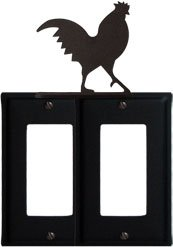 8 Inch Rooster Double Gfi Cover