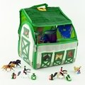 ZipBin Softie Country Stable Playset