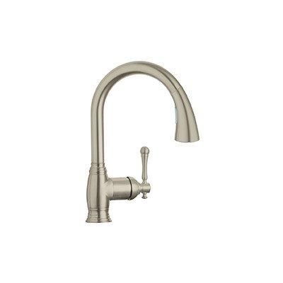 Bridgeford Single Handle Desk Mount Kitchen Sink Faucet Finish: Brushed Nickel