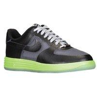 Nike Lunar Force 1 Fuse Leather - Dark Grey / Black-Flash Lime, 13 D US