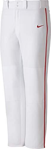 68d739566d3c Nike Boys Swingman Dri-FIT Piped Baseball Pants (White Red