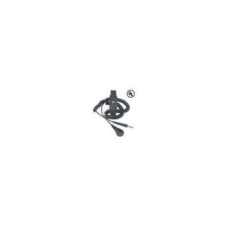 DESCO 09085 Premium Anti-Static Metal Expansion Wrist Strap and Coil Cord Kit
