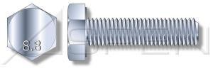(20 pcs) Metric DIN 961 M18X1.5X40 Fine Thread Hex Head Cap Screw with Full Thread 8.8 Steel Plain Finish