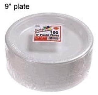 Party Dimensions 100 Count Plastic Plate, 9-Inch, White, Club Pack (B004I4IZEC)   Amazon price tracker / tracking, Amazon price history charts, Amazon price watches, Amazon price drop alerts
