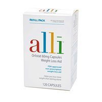 Alli Weight Loss Aid Refill Pack – 120 ea, Health Care Stuffs