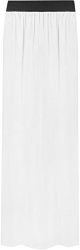 et 42 Blanc Jupes Tailles simple jupe 36 Femmes lastique Maxi WearAll SqxgUwz1t