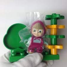 7 Details PlayBIG Bloxx Masha and the Bear Mini 6 inch of The Cubes Constructor Total