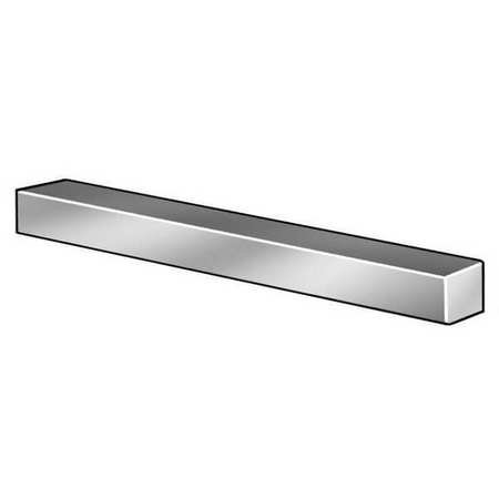 Key Stock, Under, 36 In L, 1/4 x 1/4 (Steel Square Bar)