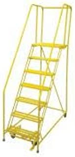 product image for Cotterman 1507R2630A1E20B4W4C2P6 - Rolling Ladder Steel 100In. H. Yellow