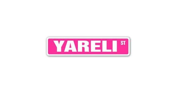 Amazon.com: Yareli Street cartel calcomanía nombre infantil ...