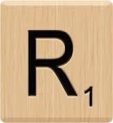Image result for scrabble letter images r