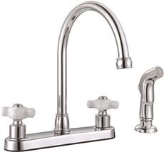 Premier 3552606 Wellington Two-Handle Kitchen Faucet With Side Spray, Chrome, 8.713'' x 8.713'' x 8.713''