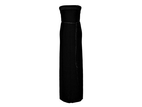 design Bandeau Maxikleid Schwarz Wahl Uni Farbe Kleid dunkle Damen zur RwdOqARIx