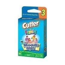Cutter All Family 7 DEET Mosquito Wipes Convenience Pack, 3 Count by CUTTER