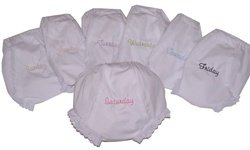 Cute as Buttons Days of the Week Bloomers 0-6M by Cute as Buttons
