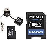 MEMZI PRO 32GB Class 10 90MB/s Micro SDHC Memory Card with SD Adapter and Micro USB Reader for EKEN Action Cameras