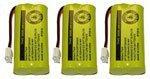 h 8300 / BATT-6010 / BT18433 / BT184342 / BT28433 / BT284342 / 89-1326-00-00 / CPH-515D (3 pack) (Vtech Ls6204 Accessory Handset)