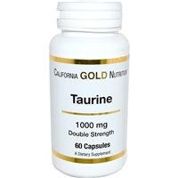 California Gold Nutrition, Taurine, 1000 mg, 60 Capsules