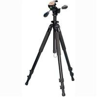 "Vista Attaras Grounder Tripod with FZ-10 3 Way Head, Supports 9 lbs, Extends 11"" - 63""."