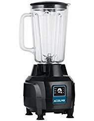 Winco XLB-44, AccelMix™ 44 oz Bar Blender, Electric Commercial Kitchen Blender, ETL, BPA Free