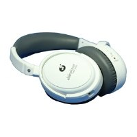 ABLE PLANET NC300W True Fidelity Around-the-Ear Active Noise Canceling Headphones (White) (Discontinued by Manufacturer) Ableplanet Noise Canceling Headphones