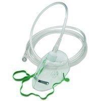 Eine Qualität Sauerstoffmaske mit Nose Clip und Tubing NHS Norm