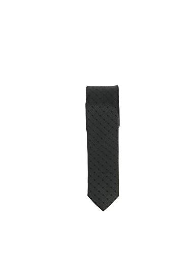 Olymp Seiden Krawatte 5 cm breit Businesskrawatte fleckabweisend durch Nano-Technologie Muster Schwarz