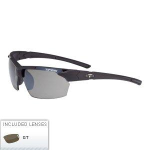 Tifosi Optics Jet Polarized Single Lens Sunglasses (Matte Black Frame - Smoke Polarized - Jet Sunglasses
