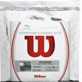 Luxilon Wilson Champion Choice Hybrid Tennis String [Natural Gut 16G ALU Power Rough 16L] (1 ()