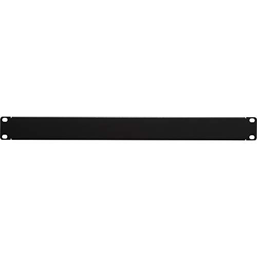 (NavePoint 1U Blank Rack Mount Panel Spacer for 19-Inch Server Network Rack Enclosure Or Cabinet Black)