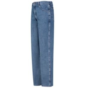 Red Kap Mens Relaxed Fit Jean, Stonewash, 46W x 37 Unhemmed ()